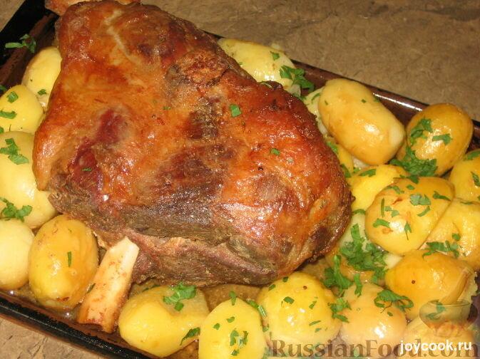 Баранина на кости с картошкой рецепты