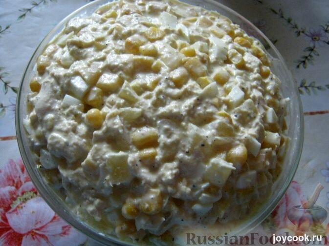 Салат нежный с ананасом и курицей рецепт
