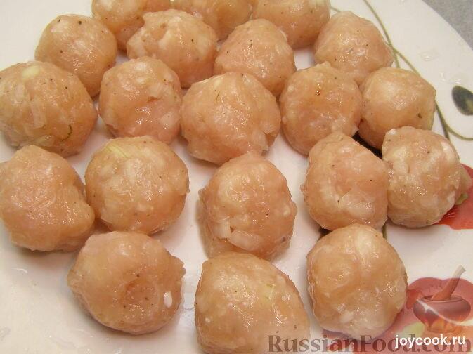 Фрикадельки с подливкой из куриного фарша рецепт пошагово