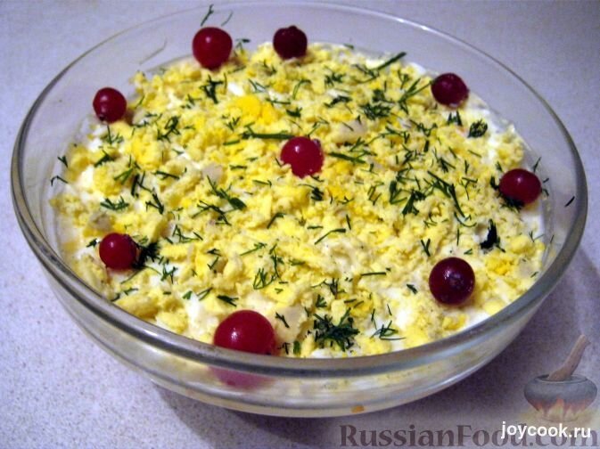 Очень вкусный печеночный салат фото рецепт