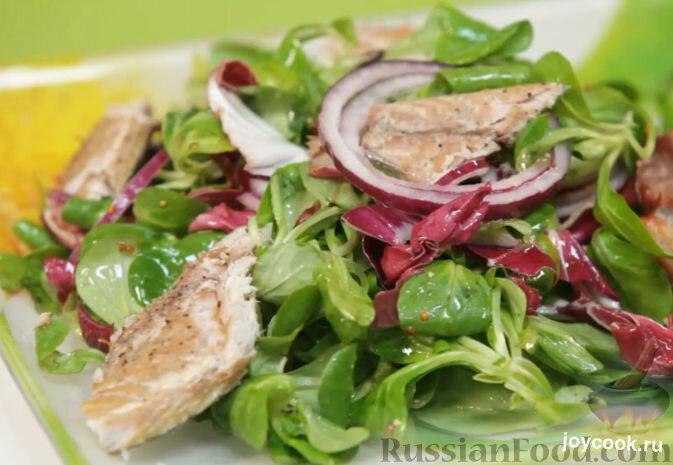 Салат из копченой скумбрии холодного копчения рецепт