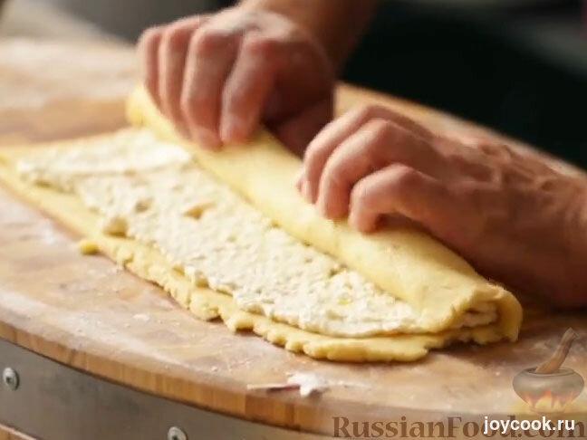Не дрожжевое тесто слоеное рулет рецепт