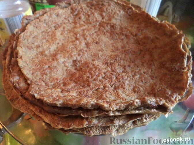 Печеночный торт с луком и чесноком - Рецепт с фото на JoyCook.ru