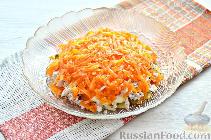 Салат подсолнух с морковью