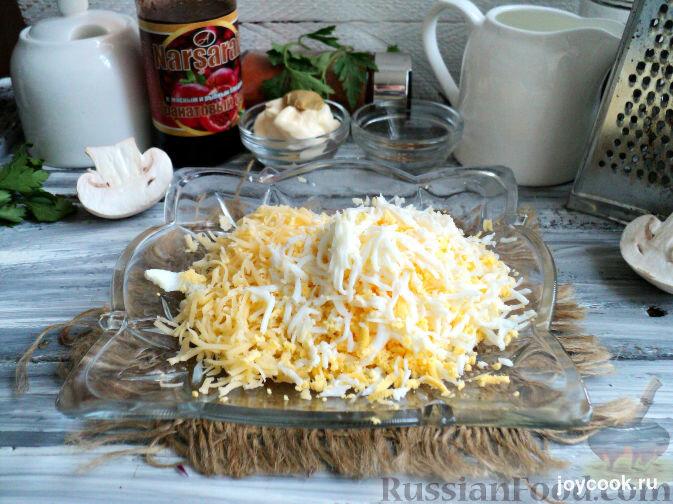 Салат крабовые палочки сыр шампиньонами