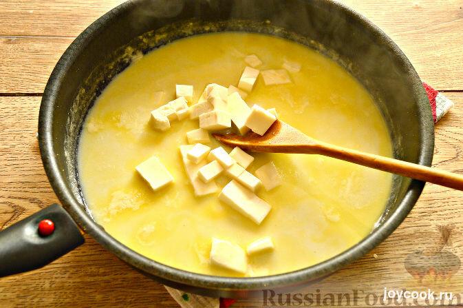 Сырный соус рецепт с плавленным сыром с фото пошагово