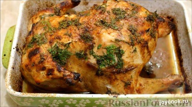Курица фаршированная в духовке с пошаговыми фото