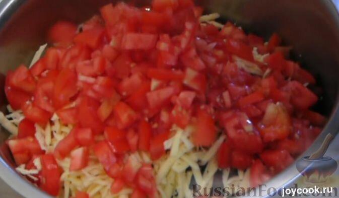 Рецепт салата крабовые палочки помидор перец