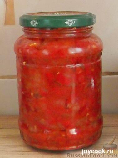 Икры из кабачков помидоров лука и чеснока
