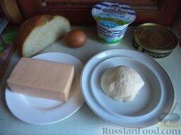 Горячие бутерброды со шпротами и сыром: Ингредиенты для бутербродов с сыром и шпротами перед вами.
