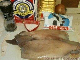 Кальмары, тушенные в сметане: Подготовить продукты.