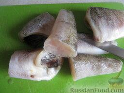 Нототения запеченная: Филе нототении (или целую рыбу) нарезать на кусочки.     Включить духовку.