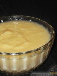 Заварной крем: Крем рекомендуется готовить непосредственно перед употреблением и охлаждать в той же кастрюле, в которой заварной крем варился.