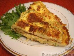 Омлет с сыром: Готовый омлет с сыром. Приятного аппетита!
