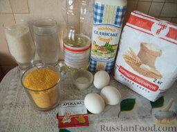 Блины кукурузные: Продукты для рецепта перед вами.