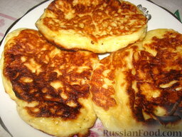 Сырные оладушки: А вот и готовые оладьи сырные. Приятного аппетита!