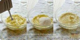 Тарталетки с лимонным курдом и голубикой: Готовим тесто для тарталеток. Сливочное масло комнатной температуры взбиваем в течение пары минут. Потом добавляем весь сахар сразу и тщательно взбиваем еще несколько минут на высокой скорости.