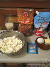 Печенье овсяное с творогом: Ингредиенты для домашнего овсяного печенья перед Вами.