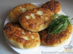 Картофельные котлеты с ливером