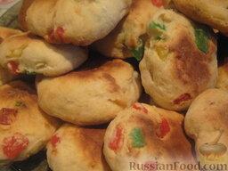 Печенье с цукатами из творожного теста