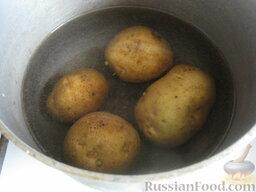 """Постный борщ """"Южный"""": Как приготовить постный борщ:  Помыть картофель, отварить в мундире до готовности."""