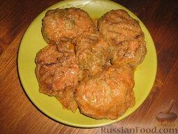 Голубцы из савойской капусты с мясо-грибной начинкой