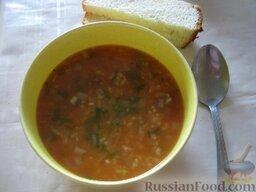 Острый суп харчо с говядиной