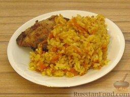 Рис карри с морковкой: Подавать карри-рис с морковью с курицей или рыбой.    Приятного аппетита.