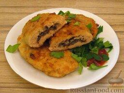 Зразы из семги с грибной начинкой: Готовые рыбные зразы с грибами. Приятного аппетита!