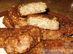 """Котлеты """"Лесные"""": На гарнир к котлетам с грибами можно отварить картофель или гречневую кашу.  Приятного аппетита!"""