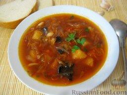 Украинский постный борщ: Украинский постный борщ готов.  Приятного аппетита!