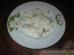 Холодный суп на кефире: Кефир развести водой до желаемой консистенции. Залить суп.   Холодный суп на кефире готов. Приятного аппетита!