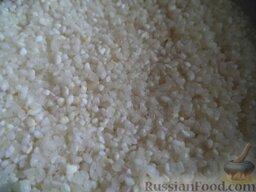 Нежный куриный суп с плавленым  сыром и овощами: Хорошо промыть рис.