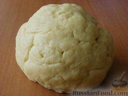 Печенье на рассоле: Замесить тесто.