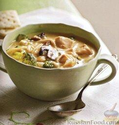 Куриный суп с брокколи и вермишелью