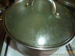 Сырный суп с зеленью: Как приготовить сырный суп с зеленью:    Налить воду (или бульон) в кастрюлю, поставить на огонь. Довести до кипения.