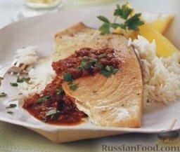 Рыба-меч под соусом барбекю