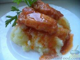 Жареная рыба под овощным маринадом: Подавать рыбу жареную под маринадом охлажденной, можно с любимым гарниром.  Приятного аппетита!