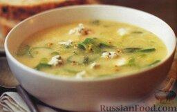 Луковый суп с голубым сыром