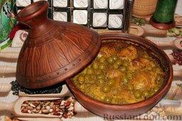 Тажин из курицы с оливками и солеными лимонами