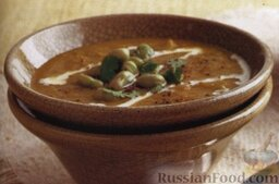 Каталонский картофельный суп-пюре с бобами