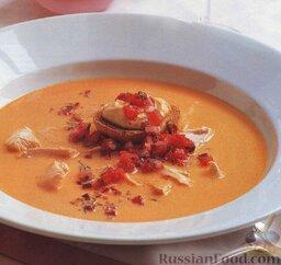 Суп-пюре с лососем и сливками