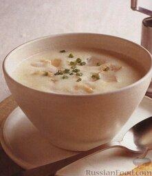 Молочный суп-пюре с пикшей