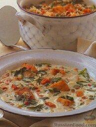 Рыбный суп с рисом и фасолью