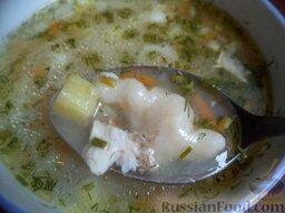 Суп рыбный с клецками: Суп рыбный с клецками готов.  Приятного аппетита!