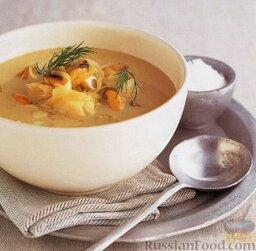 Рыбный суп с мидиями