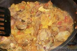 Шорба хумус (алжирский суп из нута): Обжаривать (фактически тушить) примерно 10-15 минут.