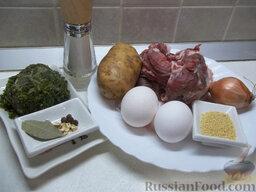 Зеленый борщ с пшеном: Необходимые ингредиенты для зеленого борща с пшеном.