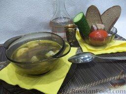 Зеленый борщ с пшеном: Зеленый борщ с пшеном готов. Всем приятного аппетита!
