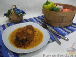 Толстолобик, тушенный в томатном соусе: Подавайте рыбу к столу с обильным количеством бульона.